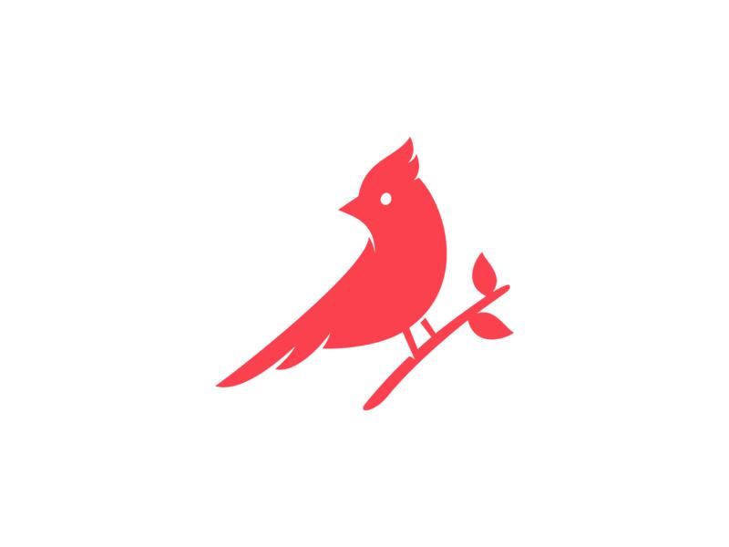 Cardinal beak wing red symbol mark logo
