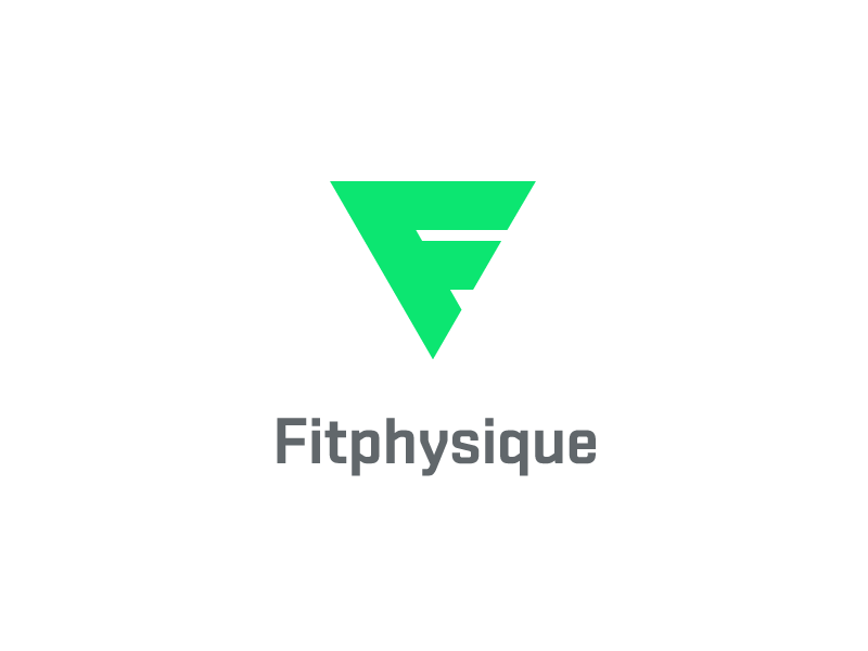 Fitphysique Logo f sport fitness health website triangle strength exercise power fit physique