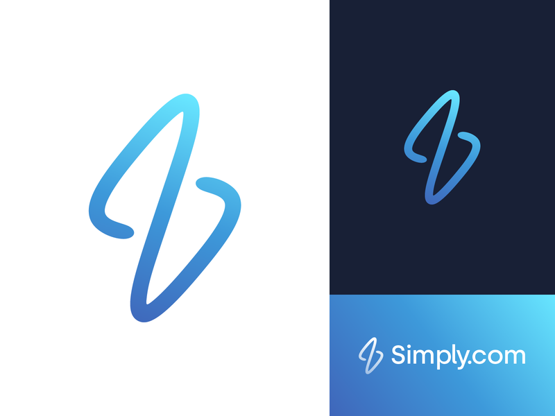Unused Simply.com Logo Concept s letter s logo concept proposal gradient symbol identity mark logo