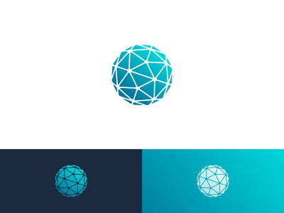 Unused Prism Globe Logo gem rock prism globe unused concept proposal gradient symbol mark logo