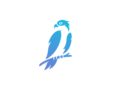 Osprey Branding gradient bitcoin crypto brand mark symbol logo animal eagle hawk