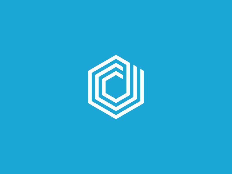 New Dunked Logo mark logo dunked portfolio d hexagon
