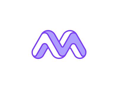 Modum Logo design brand symbol identity mark logo 3d monogram letter impossible esher