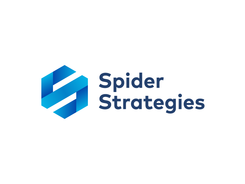 Spider Strategies Logo & Stationary  spider mark logo hexagon s gradient print paper stationary business card