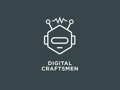 Digital Craftsmen - Animated Logo logo robot animated craft spark electric