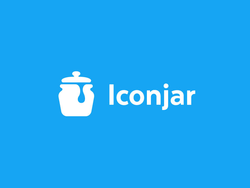 Iconjar Logo icon logo mark brand pot cookie icons drop drip
