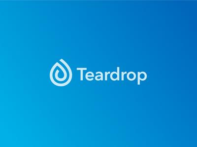 Teardrop Logo drop tear water mark icon symbol identity