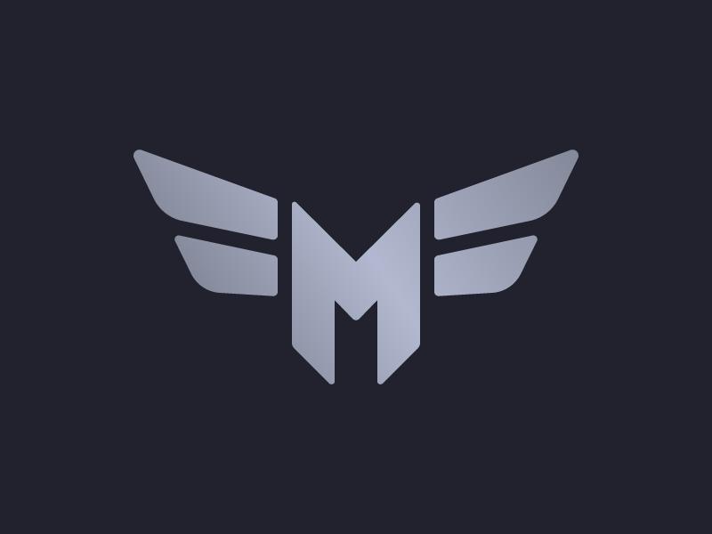 MF Monogram insignia wings crest monogram mark