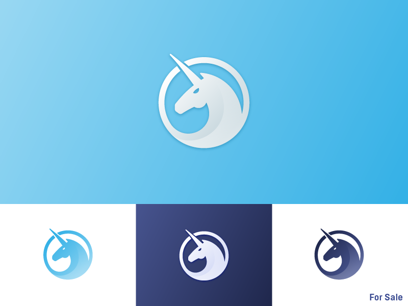 Unicorn Logo - For Sale omg gradients face animal horse horn mark logo unicorn