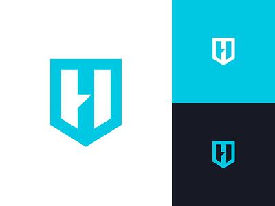 Hyperflow Studios mark logo thunder spark hyper h shield