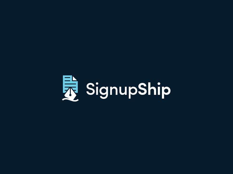 SignupShip write paper boat pen ship