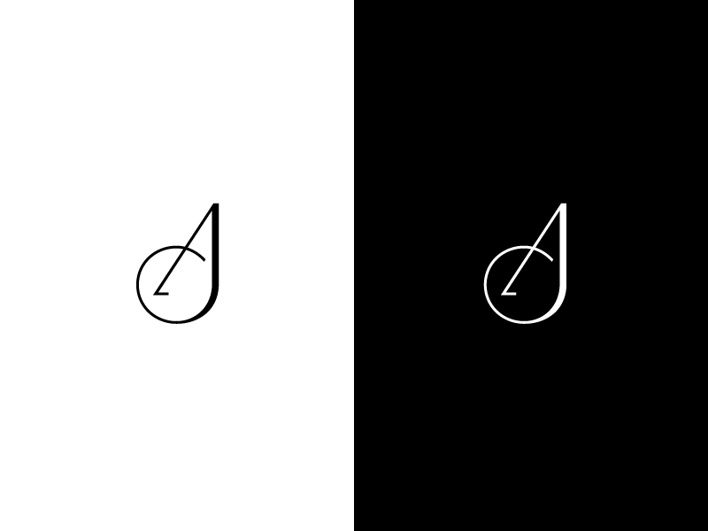 aj monogram by jord riekwel dribbble