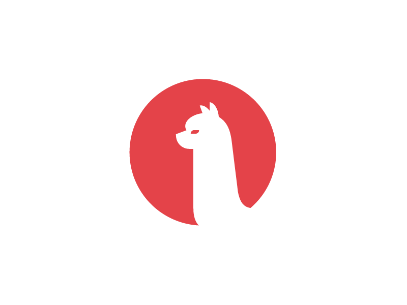 Alpaca Logo trading. finance animal alpaca