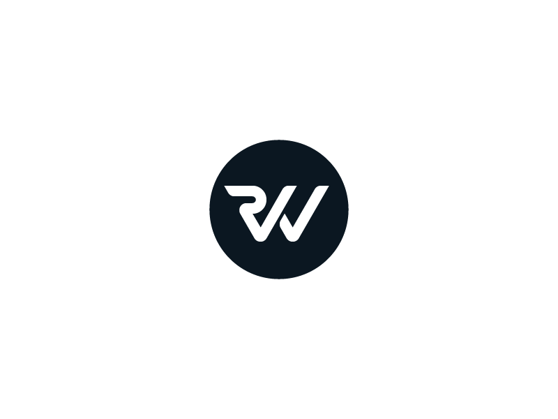 Rick Waalders Monogram monotone monogram r w wr rw