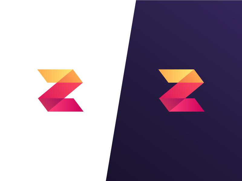 Z Mark illusion gradient letter z