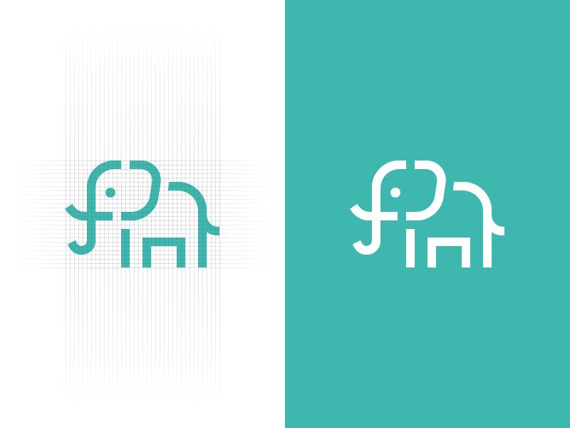 First Code Academy - Final Logo elephant animal f c tusk ear code coding academy first