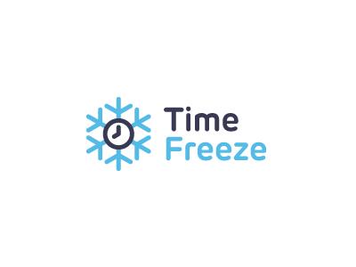 TimeFreeze logo identity final time freeze clock watch video rubrik