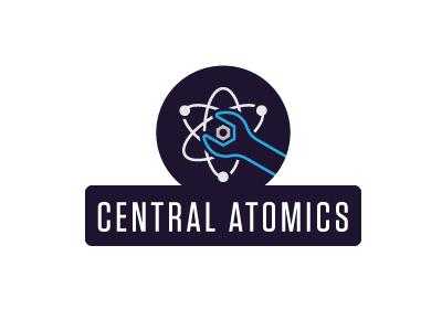 Central Atomics Proposal 1 logo identity tool atom