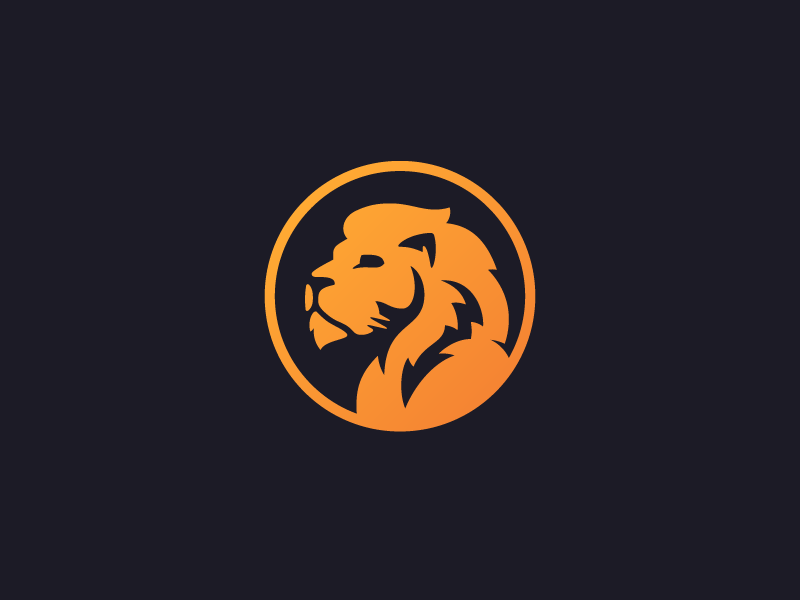 Lion Logo – Feedback Needed beast mane logo mark gradient orange lion