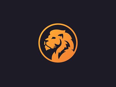 Lion Logo – Feedback Needed beast mane logo mark gradient orange lion