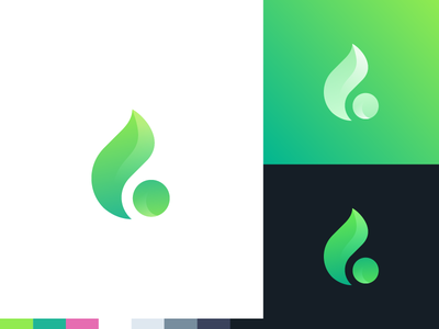 G Flame – Unused Concept fire mark letter flame green g