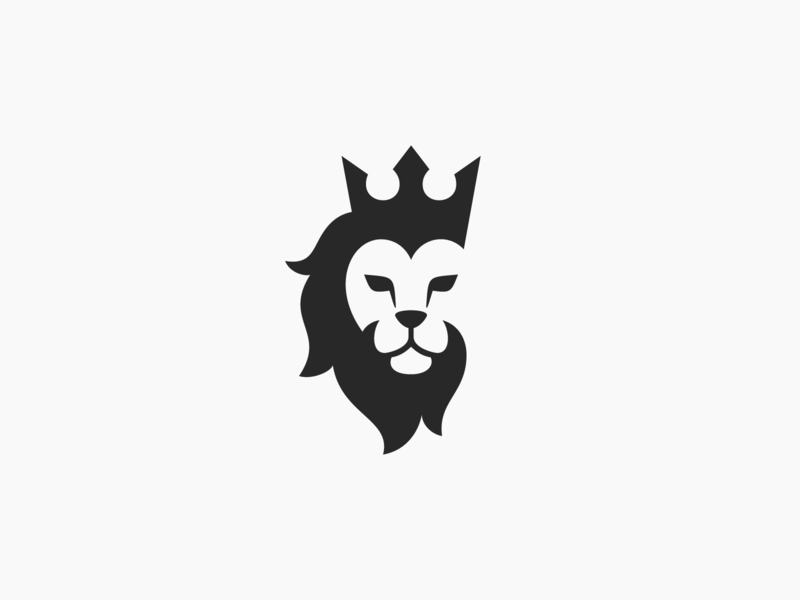 Lion Logo – Alternative Version king crown animal mark logo lion