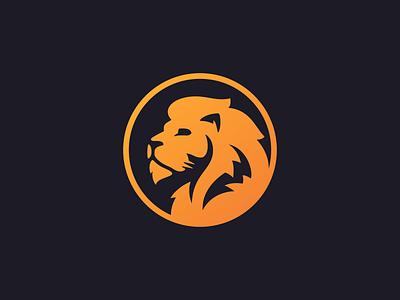 Lion Logo - V2 orange mark mane lion gradient beast