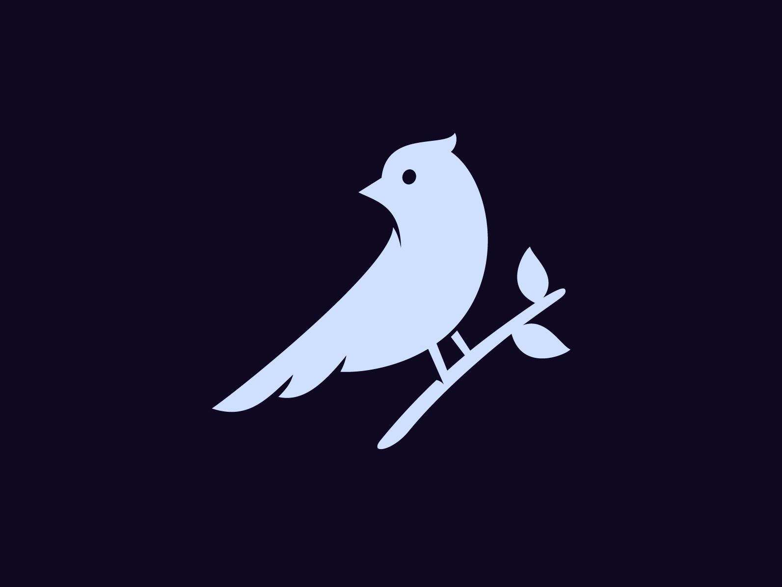 Unused Bird 2 – Improved concept wings symbol unused propsal mark logo leaf identity grow branch bird beak animal