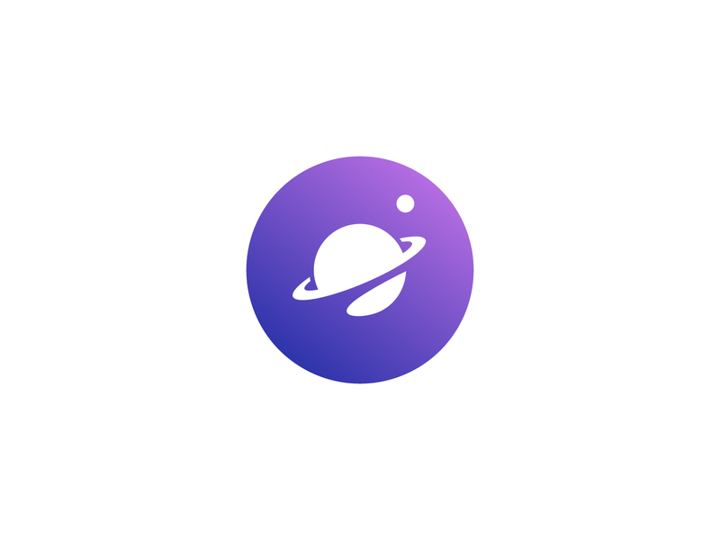 Planet Logo brand icon symbol mark orbit space planet astro