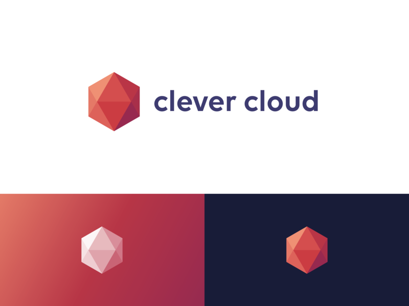 Clever Cloud – New Logo code smart clever cloud hexagon gem ruby diamond