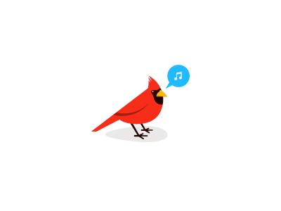 Cardinal bird cardinal red logo identity