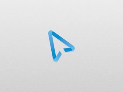 Webapp Logo logo blue webapp gradient mouse negative spage