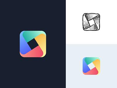 Tailwind UI Kit Placeholder Logo geometric gradient symbol mark