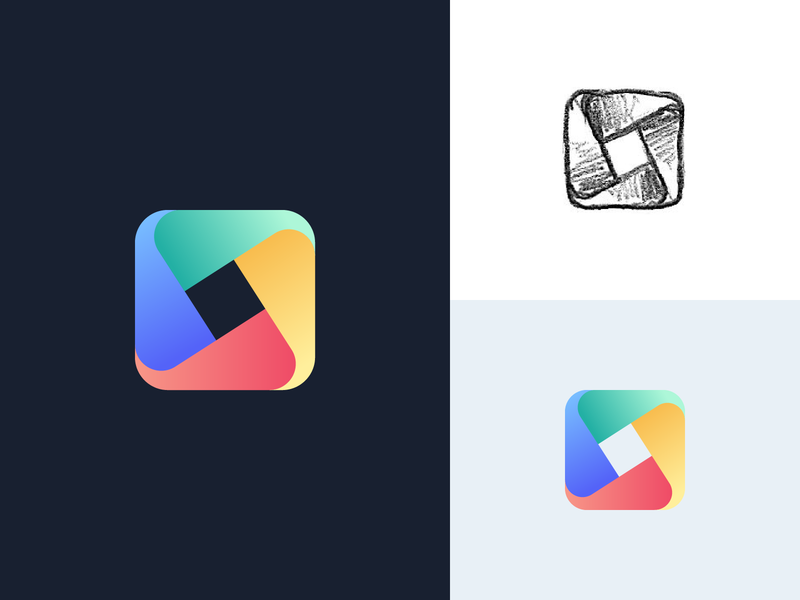 Tailwind UI Kit Placeholder Logo geometric gradient symbol mark