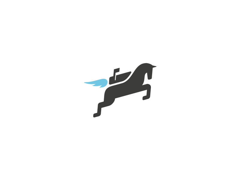 Mochila Logo - Final logo identity mark final version horse jetpack flame mailbox flag notification flying this is awesome