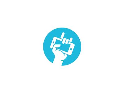 FunMobility Mark logo identity mark hand iphone fist