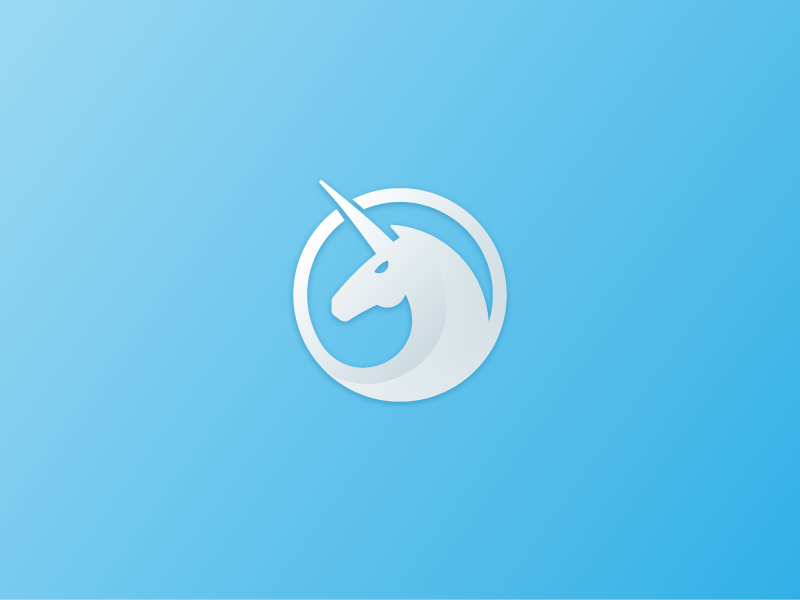 Unicorn Logo logo identity mark unicorn circle