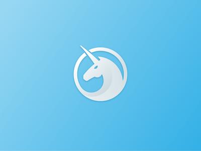Unicorn Logo logo identity mark unicorn circle