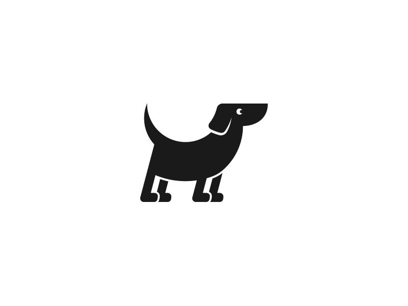 Unused Dog Mark mark logo identity dog tail