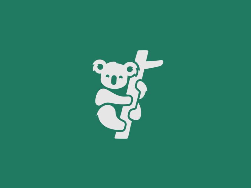 Koala Logo australia tree cute mark symbol logo animal