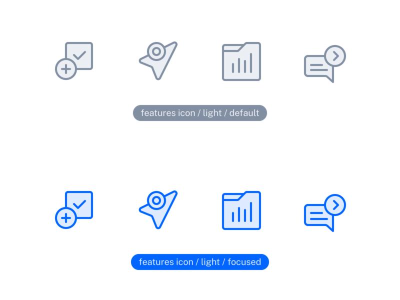 App Features Icons design system logo icon icon design iconography identity ui symbol branding design