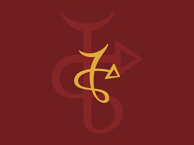 Kalvner Logo / Sigil cursive logo typogaphy magick sigil branding logo design