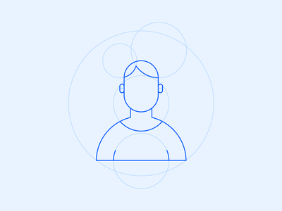 People Icon With Golden Ratio