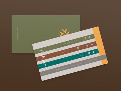 Kalvner Business Card mark brand branding visualidentity art design businesscard card