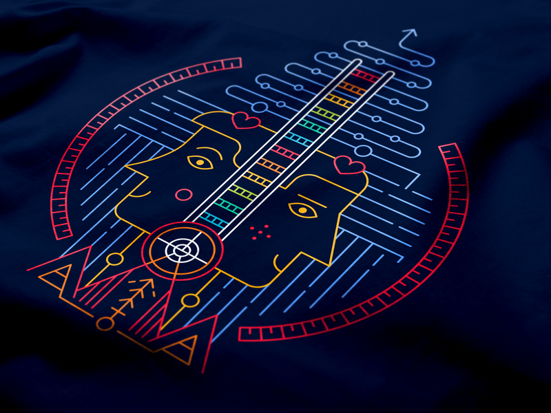 Business Core Values Illustration colors lines branding illustration art design business