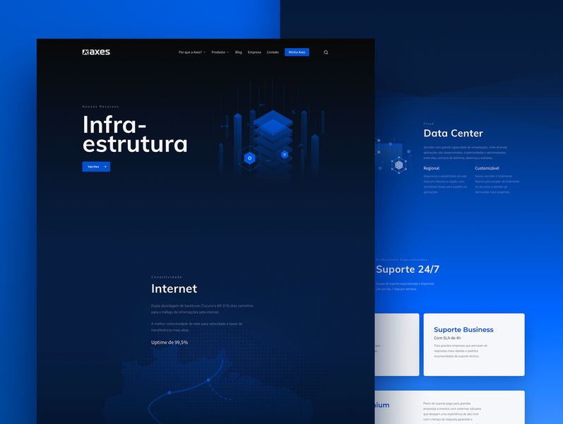 Axes Infraestruture Page product interface webdeisgn ux ui illustration brand branding design