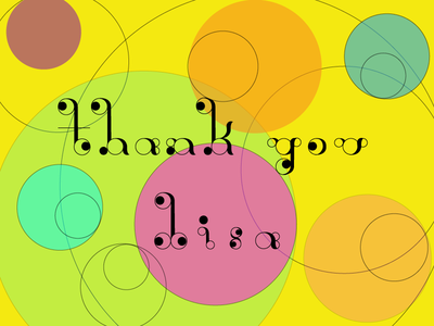 Thanks for the invite! type experiment circular type thanks