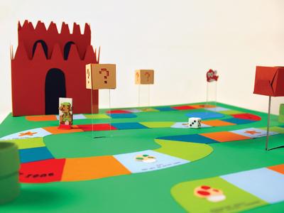 Mario Board Game ink transfer papercraft board games video games super mario bros.