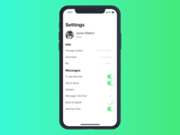 Daily Ui #6 - Settings