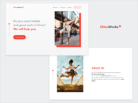 ChinaWorks Landing Page | Screens 1-2/6